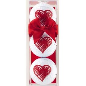 Golfaccessoires - Golfballen -  kopen - 3 golfballen Love hart