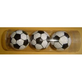 Golfaccessoires - Golfballen -  kopen - 3x golfballen voetbal