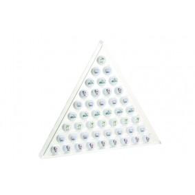 Golfaccessoires - Golfballen -  kopen - Acryl golfballen pyramide van silverline voor 45 golfballen