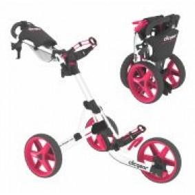 Golftassen - Golftrolleys - kopen - Clicgear 3.5 3-wiel golftrolley Wit Roze