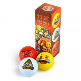 Golfaccessoires - Golfballen -  kopen - EMOJI 3 pack golfballen (Lach, Poep, Boos)