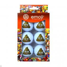 Golfaccessoires - Golfballen -  kopen - EMOJI 6 pack golfballen Poop