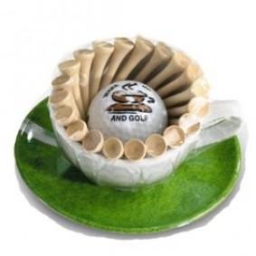 Golfaccessoires - Golfballen -  kopen - Espressokopje met tees en golfballen