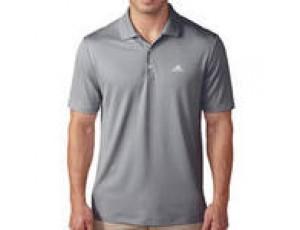 Golfkleding -  kopen - Adidas Golfpolo voor heren grijs