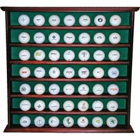 Golfaccessoires - Golfballen -  kopen - Houten golfbal kabinet voor 49 golfballen